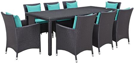 Modway EEI2217EXPTRQSET Rectangular Shape Patio Sets