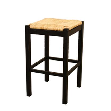 American Heritage 1XX768ABW Traditional Counter Stool With Hand Woven Sea Grass Seating, Fully Assembled & Mortise and Tenon Construction