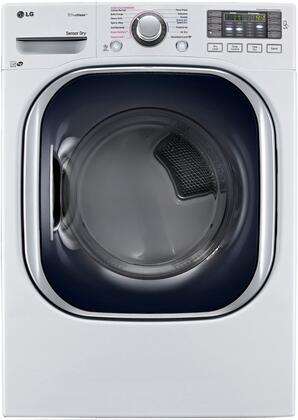 """LG DLEX4370x 27"""" Ultra Large High Efficiency Electric Steam Dryer with 7.4 cu. ft. Capacity and SteamSanitary, in"""