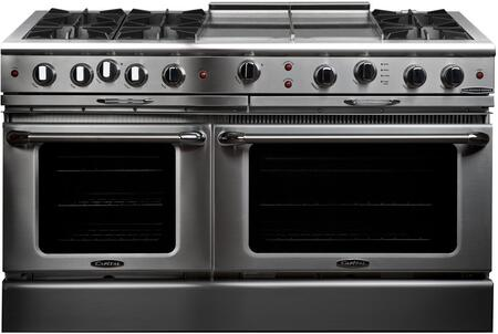 "Capital CGSR604GG2L 60"" Culinarian Series Gas Freestanding Range with Open Burner Cooktop, 4.6 cu. ft. Primary Oven Capacity, in Stainless Steel"