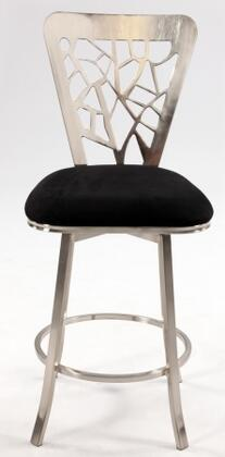 Chintaly 0413CS 0413 Series Residential Microfiber Upholstered Bar Stool