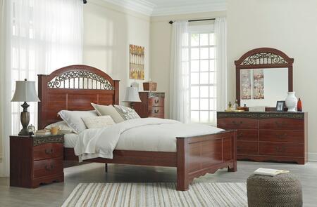 Milo Italia BR182QPBDMN Maliyah Queen Bedroom Sets