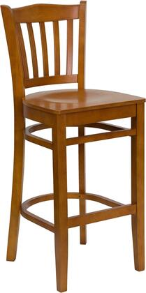 "Flash Furniture HERCULES Series XU-DGW0008BARVRT-XX-GG 29.5"" Heavy Duty Vertical Slat Back Wooden Restaurant Bar Stool with Commercial Design, Foot Rest Rung, and Plastic Floor Glides"