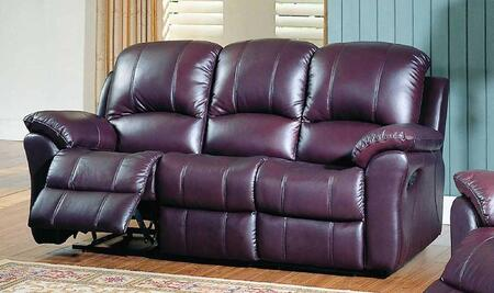 Yuan Tai KE8895SBGDY Kent Series Reclining Rocker Leather Sofa