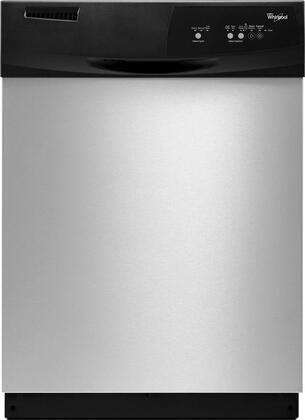 """Whirlpool WDF310PAAS 24"""" Built In Full Console Dishwasher with 12 Place Settings Place Settingin Stainless Steel"""