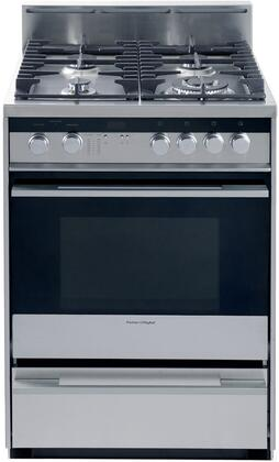 "Fisher Paykel OR24SDPWGX2 24"" Dual Fuel Freestanding"