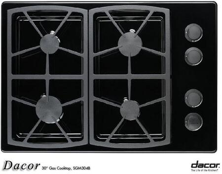 Dacor SGM304B Classic Series Natural Gas Sealed Burner Style Cooktop