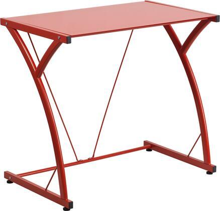 Flash Furniture NANWKSD02REDGG Contemporary Standard Office Desk