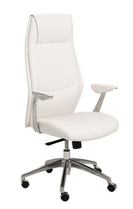 "Euro Style 00472WHT 26.75"" Modern Office Chair"