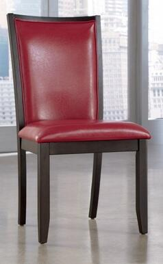 Ashley D55004 Trishelle Series Contemporary Faux Leather Wood Frame Dining Room Chair