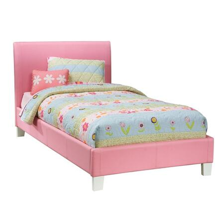 Fantasia Twin Pink Bed