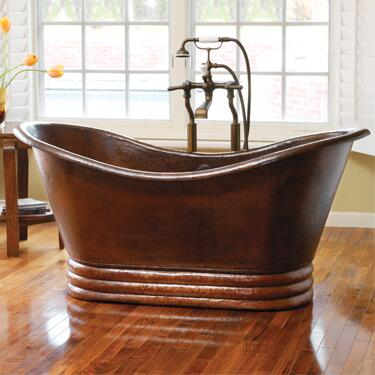 "Native Trails CPS90 72"" Aurora Bathtub with Recycled Copper, Single Walled Bathtub, and Finished in"