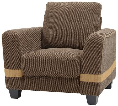 Glory Furniture G339C Fabric Armchair in Brown and Beige