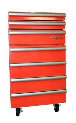"Versonel VSL18RTC3R 17"" Compact Refrigerator with 1.8 cu. ft. Capacity in Red"