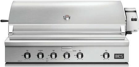 """DCS BH148R 48"""" Traditional Built-In Gas Grill with 4 Stainless Steel U Burners, Rotisserie, Smoker Tray, Drip Pan, Ceramic Radiant Technology, and Grill Light, in Stainless Steel"""