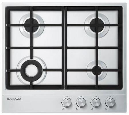 """Fisher Paykel CG244DLPX1 24"""" Gas Sealed Burner Style Cooktop, in Stainless Steel"""