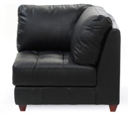 Diamond Sofa laredosqcornerchairb LAREDO Series  with Bonded Leather Frame in Black