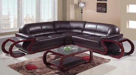 Global Furniture USA A086BRSectionalCorner  Leather Sofa