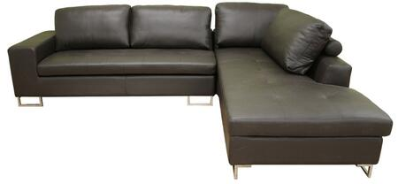 Wholesale Interiors 31129211DARKBROWN  Sofa