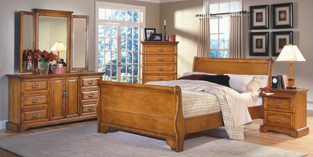 New Classic Home Furnishings 1133ESBDMCN Honey Creek King Be