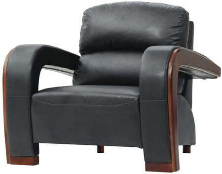 Glory Furniture G423C Faux Leather Armchair with Wood Frame in Black