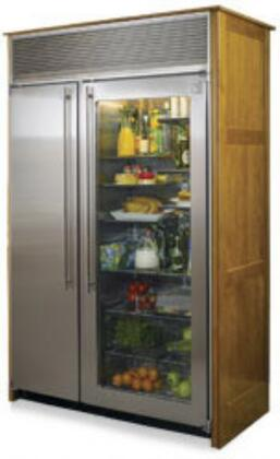 Northland 42SSSGX2  Glass Refrigerator/Stainless Freezer Door Counter Depth Side by Side Refrigerator with 27.7 cu. ft. Capacity