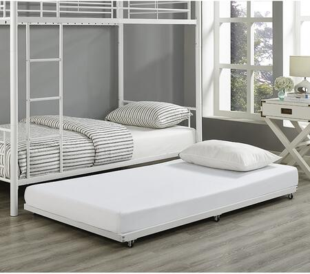 Walker Edison Twin Roll-Out Trundle Bed Frame with Powder Coated Finish in