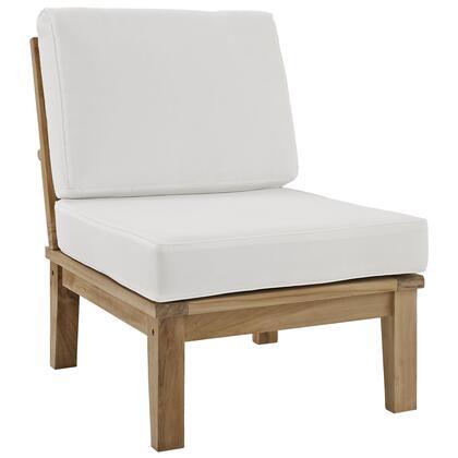 Modway EEI1150NATWHISET Marina Series  Teak Frame  Patio Side Chair