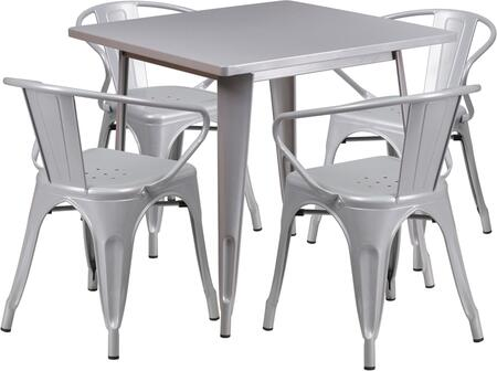 Flash Furniture ETCT002470SILGG Square Shape Patio Sets