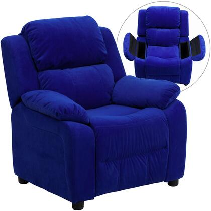 Flash Furniture BT7985KIDMICBLUEGG Childrens Microfiber Wood Frame  Recliners