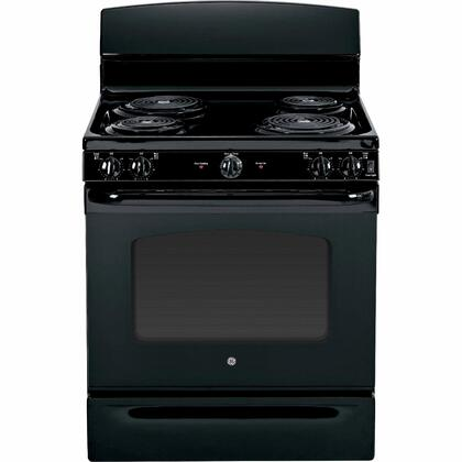"""GE JBS45XXXX 30"""" 5.0 cu. ft. Oven Capacity Free-Standing Electric Range, Upfront Controls, Standard Clean Oven, Coil Heating Elements, Duel-Element Bake, Storage Drawer, in X"""