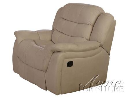 Acme Furniture 15222 Caray Series Modern Faux Leather Wood Frame  Recliners