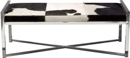 Diamond Sofa MYSTIQUEBEBL Mystique Series Accent Armless Metal Fabric Bench