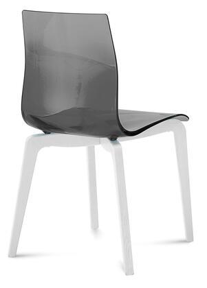Domitalia GELSLSFLBOSSFU Gel Series Transitional Wood Frame Dining Room Chair