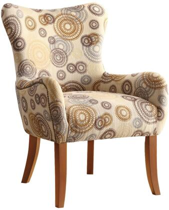 Coaster 902052 Accent Seating Series Armchair Fabric Wood Frame Accent Chair