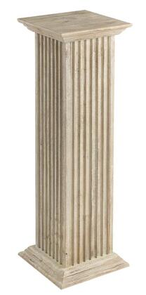Cooper Classics 622X Square Fluted Pedestal in Distressed Whitewash Finish