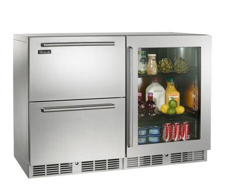 Perlick HP48FRS53R Signature Series Counter Depth Side by Side Refrigerator with 11 cu. ft. Capacity in Stainless Steel