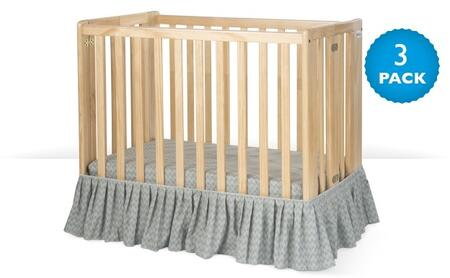 """Foundations Bare is Best Collection 70312XX 40"""" Dust Ruffle with Durable, Wrinkle Resistant Microfiber"""