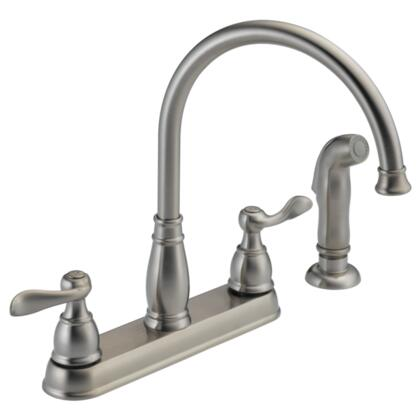 Windemere  21996LF-SS Delta Foundations: Two Handle Kitchen Faucet in Stainless
