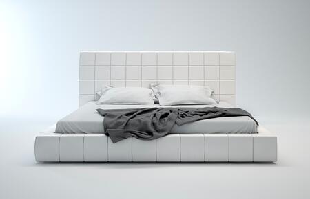 Modloft MD321QWHT Thompson Series  Queen Size Platform Bed