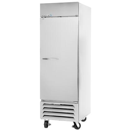 "Beverage-Air FB23-1 24"" Vista Series One Section [Solid Door] Reach-In Freezer, 23 cu.ft. Capacity, Stainless Steel Front, Robust Gray Painted Exterior Sides, Aluminum Interior, with Bottom Mounted Compressor"