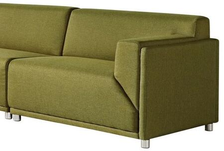 "Diamond Sofa Moderna MODERNARCGN 45"" Arm Facing Chair with  Hardwood Frame, Metal Legs and Fabric Upholstery in Green Color"