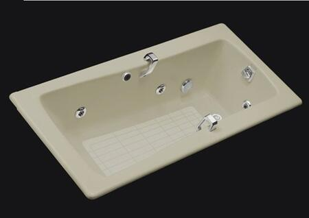 "Kohler K-845-H2- Maestro Collection 66"" Drop In Jetted Bath Tub with Reversible Drain:"