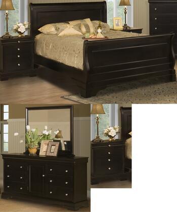 New Classic Home Furnishings 00013ESBDMNN Belle Rose King Be