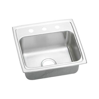"""Elkay LRAD1918500 19"""" Top Mount Self-Rim Single Bowl ADA Compliant 18-Gauge Stainless Steel Sink"""