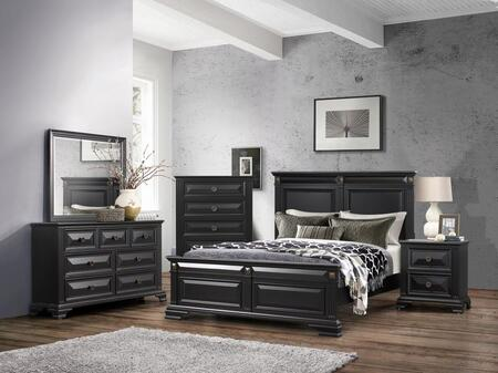 Global Furniture USA Carter 5 Piece King Size Bedroom Set