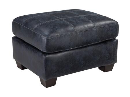 Milo Italia Brooklynn MI-6925ATMP Ottoman with Faux Leather, Low Melt Fiber Wrapped Over Foam and Contemporary Style