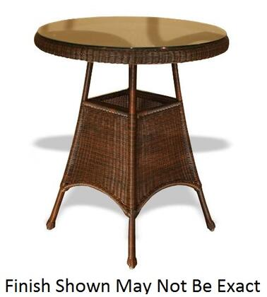 """Tortuga LEX-BART Lexington Bar Table With Powder Coated Aluminum Frames, Heavy 1/4"""" Clear Tempered Glass Table Tops & In"""