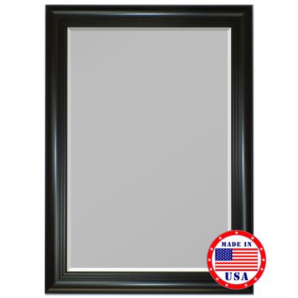 Hitchcock Butterfield 81180X 2nd Look 3 Step Satin Black Framed Wall Mirror