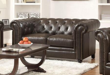 Coaster 504552 Roy Series Bonded Leather Stationary with Wood Frame Loveseat